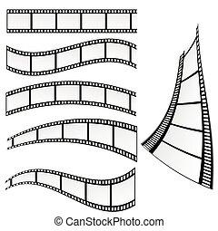 vektor, film, abbildung, streifen