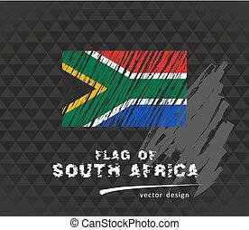 vektor, flagga, skiss, hand, bakgrund, oavgjord, mörk, ...