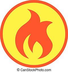 vektor, flamme, ikone