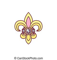 vektor, fleur de lis, lys, ritterwappen