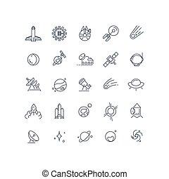 vektor, fodra, utrymme, astronomi, ikonen