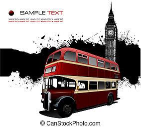 vektor, folt, grunge, ábra, images., london, transzparens
