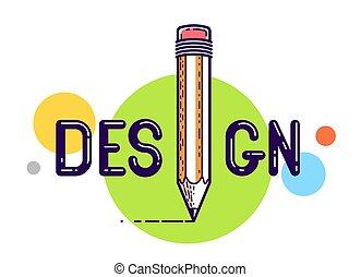 vektor, font., brev, affisch, design, begreppsmässig, eller...