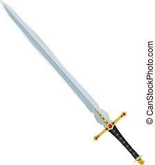 vektor, forntida, svärd, illustration