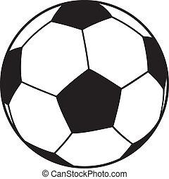 vektor, fotboll klumpa ihop sig, (soccer)