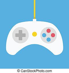 vektor, gamepad, ikone