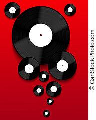 vektor, gammal, vinyl teckna uppe, bakgrund., eps10