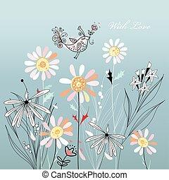 vektor garden daisies