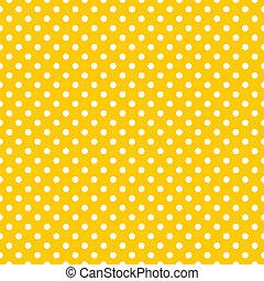 vektor, gelber , polka- punkte, hintergrund