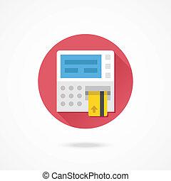 vektor, geldautomat, ikone