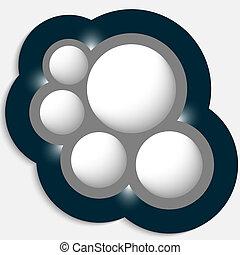 vektor, genstand, cirkelrund