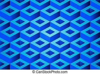 vektor, geometrický, grafické pozadí, o, čtverhran