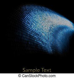 vektor, geometrický, tech, grafické pozadí., vektor,...