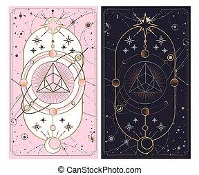 vektor, geringfügig, hintergrund., rosa, silber, geheimnis,...