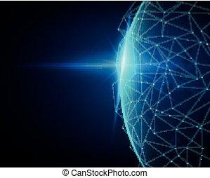 vektor, gesamt-netzwerk, anschluss, begriff