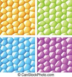 vektor, glänsande, seamless, hexagon