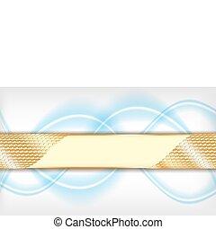 vektor, gold, hintergrund