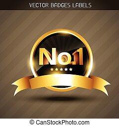 vektor, goldenes, gewinner, etikett