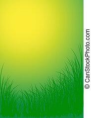 vektor, grönt gräs, bakgrund