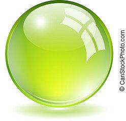vektor, grüne kugel