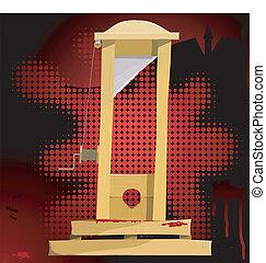 vektor, guillotine., eps10, illustration