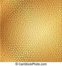 vektor, guld, läder, struktur