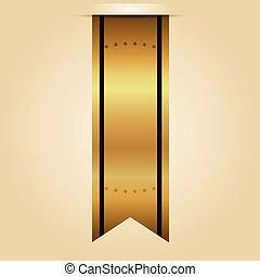 vektor, guld remsa