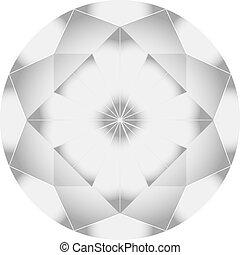 vektor, gyémánt, ábra