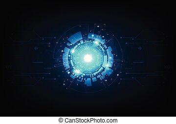 vektor, háttér, alatt, haladó technology, form.