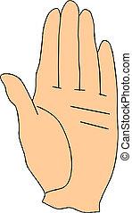 vektor, hand