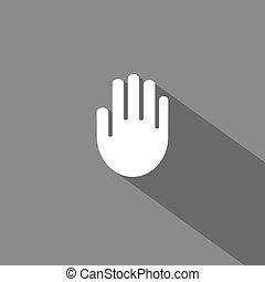 vektor, hand, ikon