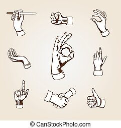 vektor, hands.