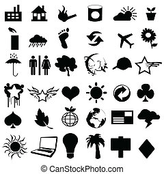 vektor, hasznos, pictograms