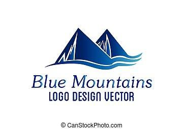vektor, hegyek, tervezés, jel