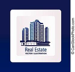 vektor, heiligenbilder, real estate