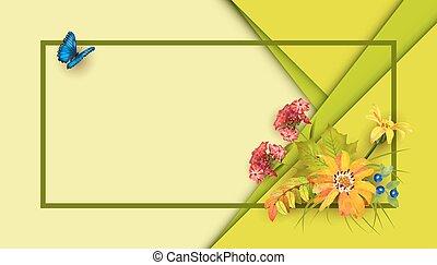 vektor, herbst, banner