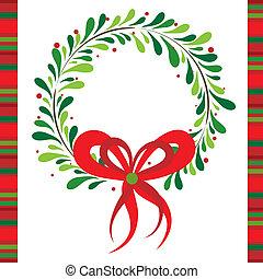 vektor, hils, jul, skabelon, card