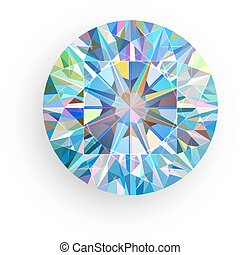 vektor, hintergrund., weißes, diamant, freigestellt