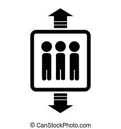 vektor, hiss, ikon