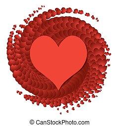 vektor, hjärta, symbol, -, kärlek