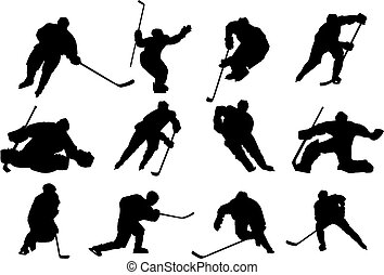 vektor, hockey, is