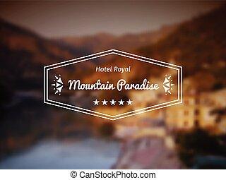 vektor, hotel, logo