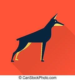 vektor, hund