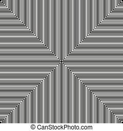 vektor, hypnotisk, bakgrund, svart, vit, illusion