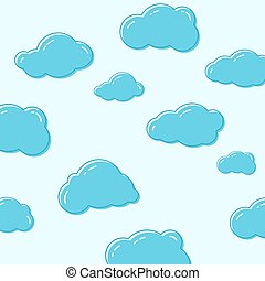 vektor, icons., felhő
