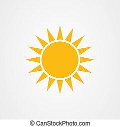 vektor, ikon, nap, jel, tervezés