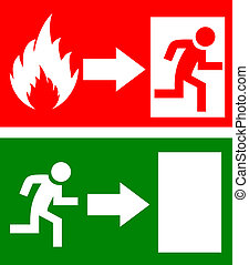 vektor, ild udgang, tegn