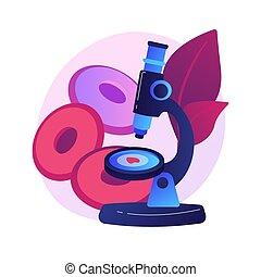 vektor, illustration., abschirmung, begriff, anämie, abstrakt