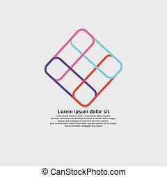 vektor, illustration, abstrakt, logo, design, affär