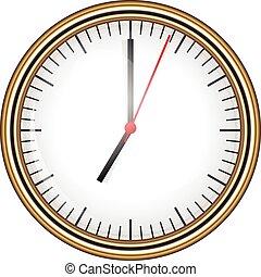 vektor, illustration, klocka
